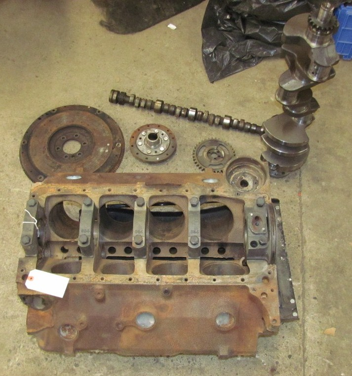 1961 61 Chevrolet Chevy 348 Engine Block With Crank Cam