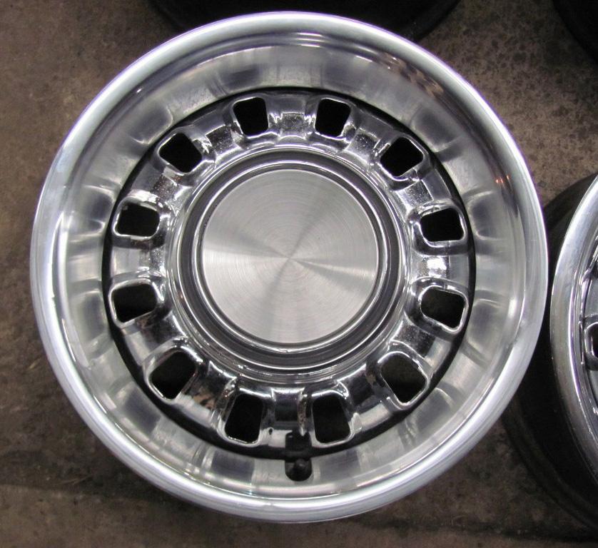 72 Ford Mustang Chrome Styled Wheels Torino 14 FoMoCo Original