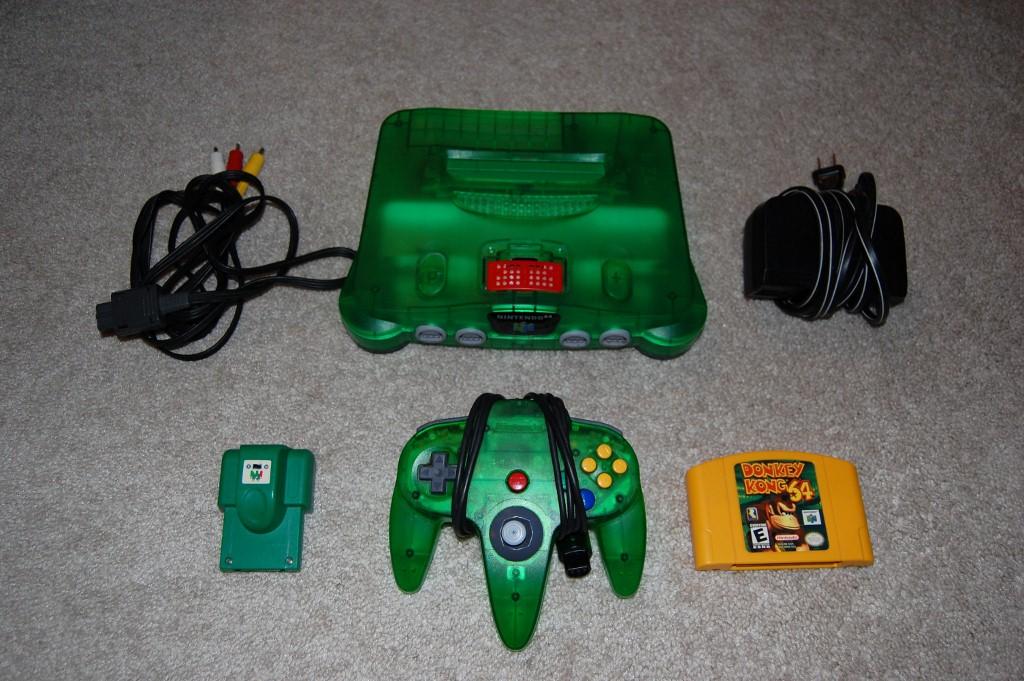Nintendo 64 Jungle Green Console NTSC N64 + DK64 Donkey ...