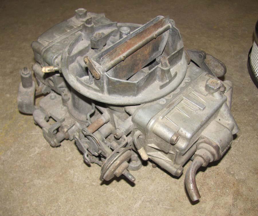 Offenhauser Aluminum Intake & Holley Carb & Chrome Air